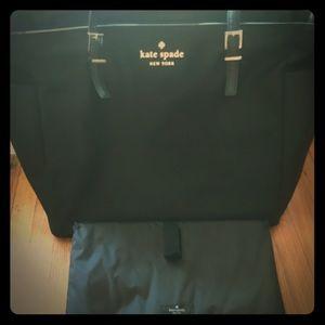 Kate Spade Black Nylon Bethenney Diaper Bag